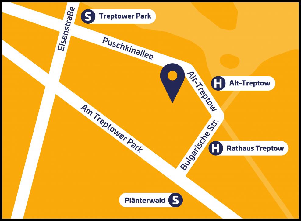 Lageplan Archenhold-Sternwarte
