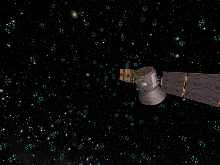 Transiting Exoplanet Survey Satellite (TESS) © Evans & Sutherland / Digistarprogrammierung: M. Wüsthoff