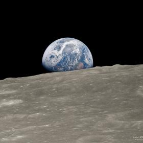 Earthrise © NASA, Apollo 8 Crew, Bill Anders; Processing and License: Jim Weigang