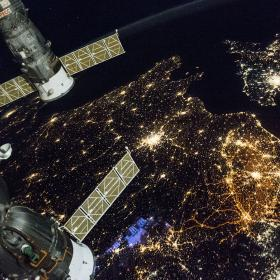 A nighttime view of Western Europe © NASA
