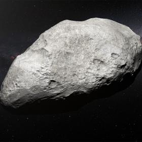 artist's impression of the exiled asteroid 2004 EW95 © ESO/M. Kornmesser